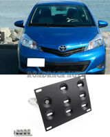 For 07-11 Toyota Yaris Tow Hook Hole Cover License Plate Bracket Mount Holder