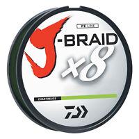 Daiwa J-Braid Chartreuse Fishing Line 330 Yards 30lb Test  JB8U30-300CH
