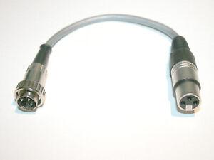 Kabel ADAPTER XLR w - DIN RENK-STECKER für Uher Report, Nagra ua.