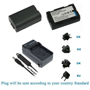 2/1 X Battery or Charger for Panasonic CGR-D08S CGR-D08 D14S CGR-D120 Camcorder