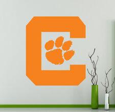 Clemson Tigers Logo College Football Wall Decal Vinyl Sticker NCAA Poster (8nc)