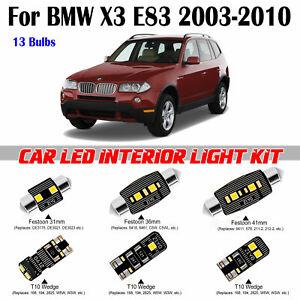 13pcs Deluxe White LED Interior light Kit For BMW X3 E83 2003-2010 Error Free