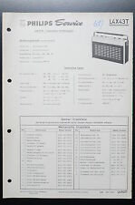 PHILIPS l4x43t ORIGINAL MANUELS DE REPARATION manuelle / AMPLIFICATEUR ! O35