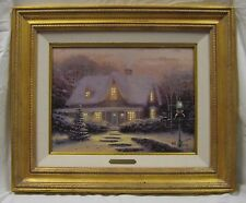 "REDUCED!!! Thomas Kinkade ""CHRISTMAS EVE"" #56/980 S/N Framed Canvas Lithograph"