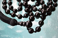 108+1 Onyx Black Hand Knotted 6 mm Mala Beads Necklace