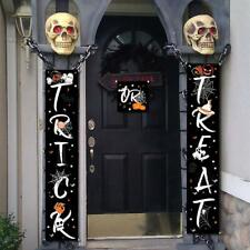 3PC Trick or Treat Halloween Banner for Indoor/Outdoor Decor (72in x 14in)