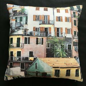 Osborne & Little Fabric Cushion Cover PORTOVENERE Italian Village - Choose Size