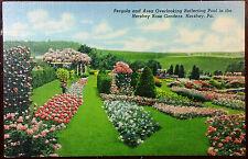 1940's Postcard Pergola & Hershey Rose Gardens Pennsylvania