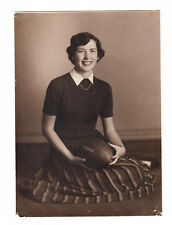Burkburnett High School, Texas Teen Girl Football Cheerleader 1950s 5x7 photo