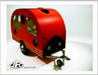 """+""""Small Red Camper"""" ...on Trailer Hitch   ~Post Card~"""
