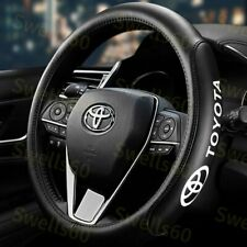 "New 15"" Car Steering Wheel Cover Genuine Leather For Toyota Black X1"