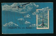 France PARIS booklet of 20 PPCs Vue en Avion aerial views
