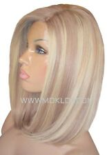 Remy Human Hair Wig Glueless Front Lace 12 Light Ash Brown Blonde 9 60 Highlight