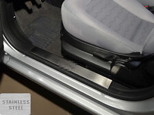 Entry Door Sill Guards Inside Plastic Scuff Protection For Fiat Linea 2012-