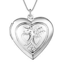 925 SILBER PL Medaillon Silber Medallion Herz Anhänger Amulett zum öffnen Foto