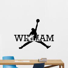 Personalized Air Jordan Wall Decal Basketball Vinyl Sticker Custom Poster 147nnn