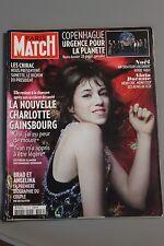 PARIS MATCH N°3159 3 DECEMBRE 2009 CHARLOTTE GAINSBOURG/ PITT ET JOLIE