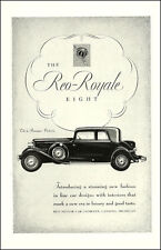 1932 Classic Car AD, REO-ROYALE Eight , 5 passenger luxury automobile   072214