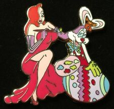DISNEY PIN - ROGER RABBIT and JESSICA Painting Egg Easter Series LE 250 New