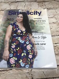 Simplicity 2021 Spring Patterns Sewing Counter Catalog