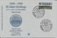 "Logensiegel N 601 ""50 Jahre A.F.u.A.M.v.D."" -KONRAD EKHOF- Hamburg"