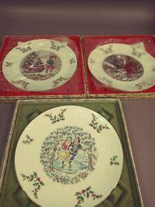 L👀K Royal Doulton Christmas Collector Plates Lot of 3 - 1977 1979 1980