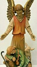 Anri Bachlechner | 24 Inch Guardian Angel Figurine *New* Rare Wood Italy Vintage