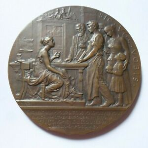 FRENCH SAVING BANK BRONZE MEDAL by PATEY