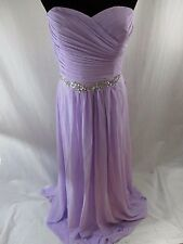 Baby Online Dress Light Purple Formal Rhinestones Beaded Long Evening Prom Gown