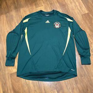 Adidas PORTLAND TIMBERS Army Goalie Jersey vtg Goalkeeper Soccer Shirt MENS 2XL