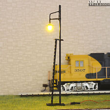 6 pcs HO / OO gauge warm white LEDs made Yard Lights Lampposts + cover  #R42-11