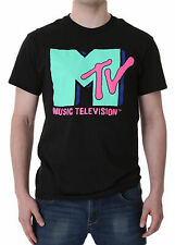 Mtv Cyan Adult T-Shirt - Rock Pop Hip Hop Retro Music Tv