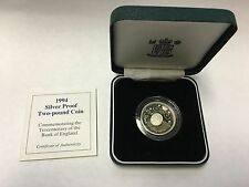 1994 Silver Proof Two-pound Coin Commem... Tercentenary of the Bank of England
