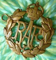 WW1 Royal Air Force Cap Badge RAF Badge KC BRASS ANTIQUE Original