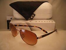 Oakley Feedback Rose Gold w VR50 Brown Gradient Lens NEW Sunglasses (oo4079-01)