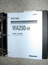 Komatsu WA250-1H PARTS MANUAL BOOK CATALOG WHEEL LOADER WA 250 BINDER SPARE LIST