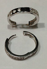 .90 ctw Diamond Hoop Pierced Earrings Loop Anniversary 18 Kt White Gold $9600