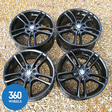 "GENUINE BMW 1 SERIES 18"" 261 DUAL SPOKE BLACK ALLOY WHEELS E81 E82 E88 E88"