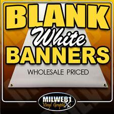 2x8 Blank Vinyl Banner, 13oz, White, Grommets