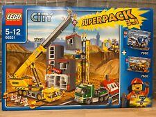 LEGO® City 66331 Superpack Großbaustelle (enthält 7633, 7990, 7630), neu, OVP