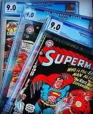 *AUCTION* THREE 3X CGC 9.0+ Superman #199 DC FLASH #175 WF #198 Infantino