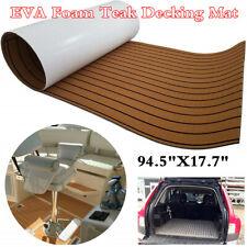 Marine Boat EVA Foam Brown Teak Decking Car Trunk Flooring Mat Carpet 240x45cm