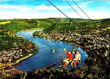 Boppard am Rhein mit Sessellift , Ansichtskarte 197? gelaufen