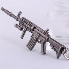 AK12 Rifle Mini Gun Model Weapon Metal Keyring Military Car Keychain Key Chain
