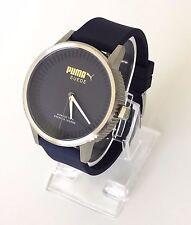 Puma Herren Uhr Suede blau silber Silikon PU104101003