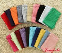 Women's Stretch Candy Pencil Pants Casual Slim Fit Skinny Jeans Trousers On Sale