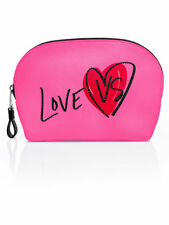 NWT Victoria's Secret LOVE VS Rhinestone PINK Travel Cosmetic Makeup beauty Bag