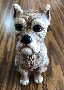 "Vintage Creative Mfg Manufacturing Dog Bank Durable Hard Plastic 6.5"" Tall"