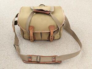 Billingham Camera Bag With Shoulder Strap Canvas &Leather Straps Made in England