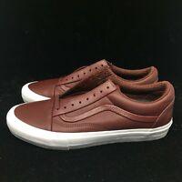 Vans Old Skool ST LX Premium Leather Andorra Maroon White Gum Men's VN0A3DPZORI